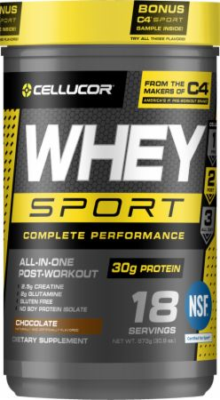 Cellucor Whey Sport Chocolate 1.8 Lbs. - Protein Powder