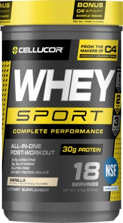 Cellucor Whey Sport Vanilla 1.8 Lbs. - Protein Powder