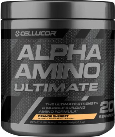 Image of Alpha Amino Ultimate Orange Sherbet 20 Servings - Amino Acids & BCAAs Cellucor