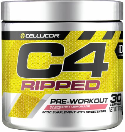 Image of C4 Ripped Pre Workout & Thermogenic Raspberry Lemonade 30 Servings - Pre-Workout Supplements Cellucor
