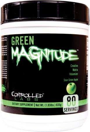 Image of Controlled Labs Green MAGnitude 80 Servings Sour Green Apple