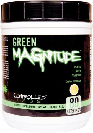 Image of Green MAGnitude Stimulant-Free Pre Workout Electric Lemonade 80 Servings - Creatine Controlled Labs