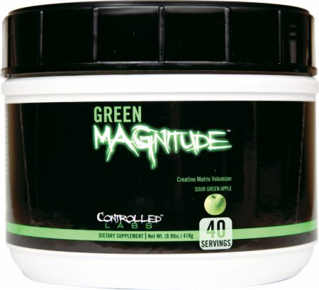 Controlled Labs Green MAGnitude Sour Green Apple 40 Servings - Creatine