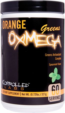 Image of Orange OxiMega Greens Spearmint 60 Servings - Greens Controlled Labs