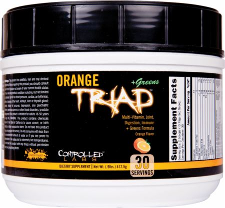 Image of Orange Triad + Greens Orange 30 Servings - Performance Multivitamins Controlled Labs