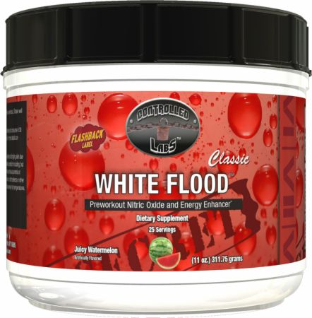 White Flood Classic Juicy Watermelon 25 Servings - Pre-Workout Supplements Controlled Labs