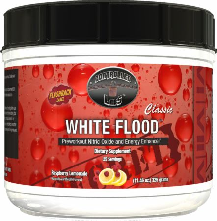 White Flood Classic Raspberry Lemonade 25 Servings - Pre-Workout Supplements Controlled Labs