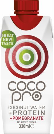 Image of CocoPro Coconut Water + Protein 1 - 330ml Carton Pomegranate