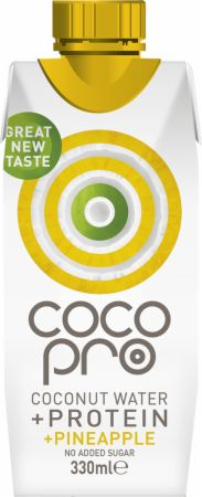 Image of CocoPro Coconut Water + Protein 1 - 330ml Carton Pineapple