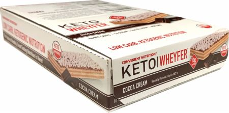 Image of Keto Wheyfer Cocoa Cream 10 x 35g Bars - Protein Bars Convenient Nutrition