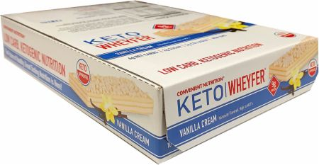 Image of Keto Wheyfer Vanilla Cream 10 x 35g Bars - Protein Bars Convenient Nutrition