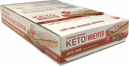 Image of Keto Wheyfer Coffee Cream 10 x 35g Bars - Protein Bars Convenient Nutrition
