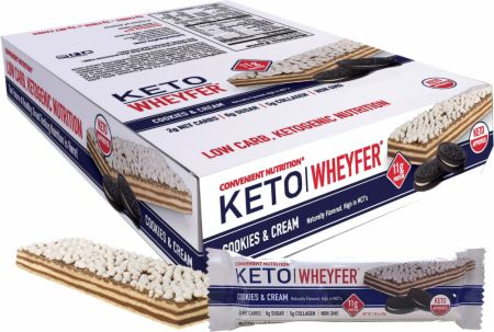 Image of Keto Wheyfer Cookies & Cream 10 x 35g Bars - Protein Bars Convenient Nutrition