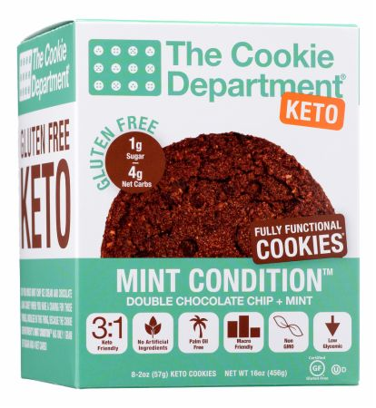 Image of KETO Cookie Double Chocolate Mint 8 x 57 Gram Cookies - Healthy Snacks & Foods The Cookie Department