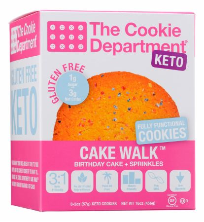 Image of KETO Cookie Birthday Cake with Sprinkles 8 x 57 Gram Cookies - Healthy Snacks & Foods The Cookie Department