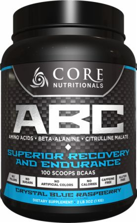 Image of Core Nutritionals Core ABC 50 Servings Crystal Blue Raspberry