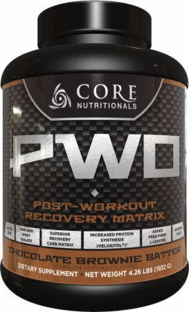 Image of Core PWO Chocolate Brownie Batter 28 Servings - Post-Workout Recovery Core Nutritionals