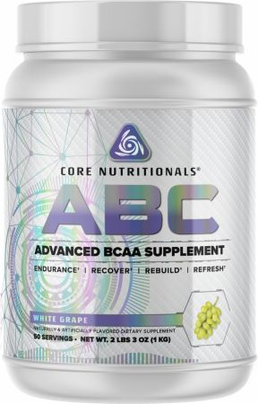 Image of Core ABC White Grape 50 Servings - Amino Acids & BCAAs Core Nutritionals