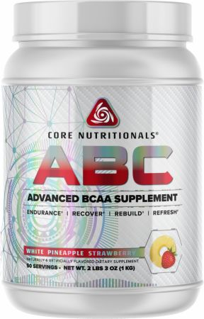 Image of Core ABC White Pineapple Strawberry 50 Servings - Amino Acids & BCAAs Core Nutritionals