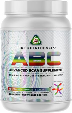 Image of Core ABC Australian Gummy Snakes 50 Servings - Amino Acids & BCAAs Core Nutritionals