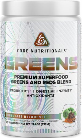 Image of GREENS Superfood Greens and Reds Blend Chocolate Decadence 30 Servings - Greens Core Nutritionals