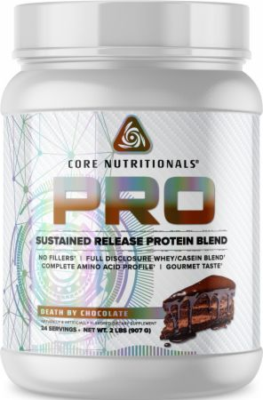 Image of PRO Sustained Release Protein Blend Death By Chocolate 2 Lbs. - Protein Powder Core Nutritionals