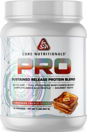 Image of PRO Sustained Release Protein Blend Cinnamon French Toast 2 Lbs. - Protein Powder Core Nutritionals