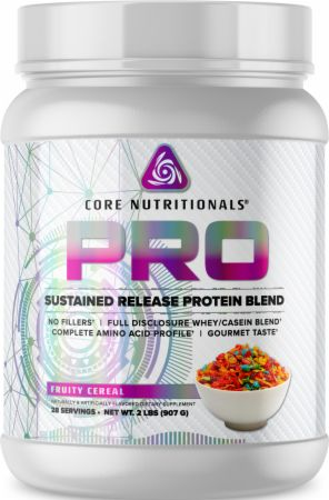 Image of PRO Sustained Release Protein Blend Fruity Cereal 2 Lbs. - Protein Powder Core Nutritionals