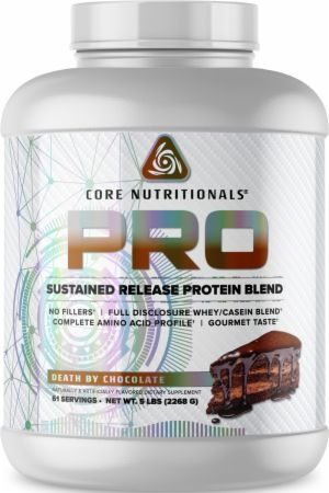 Image of PRO Sustained Release Protein Blend Death By Chocolate 5 Lbs. - Protein Powder Core Nutritionals