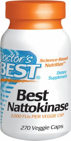 Image of Best Nattokinase 270 Veggie Caps - Cardiovascular Health Doctor's Best