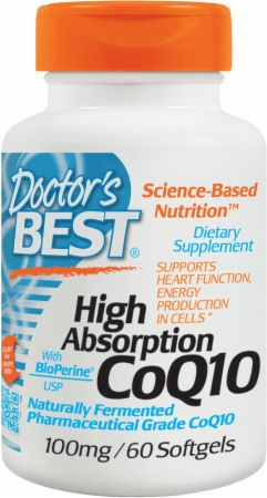 Image of Doctor's Best High Absorption CoQ10 100mg/60 Softgels