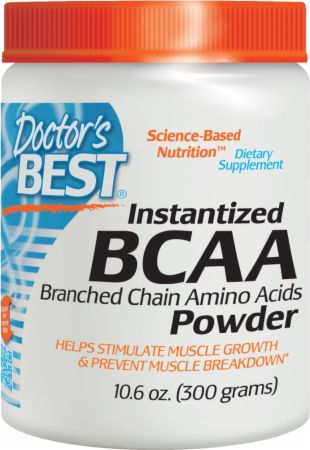 Doctor's Best BCAA Powder Unflavored 300 Grams - Amino Acids & BCAAs
