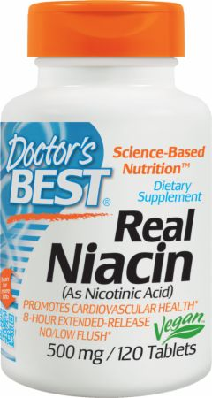 Image of Doctor's Best Real Niacin 120 Tablets