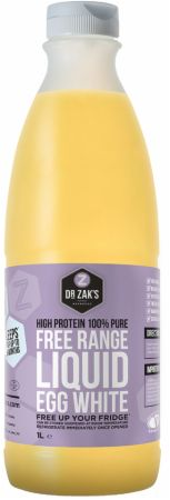 Image of Dr Zaks Free Range 100% Liquid Egg Whites 1 Kilogram Bottle