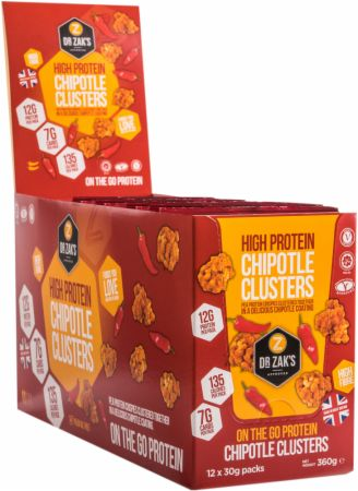 Image of Dr Zaks High Protein Clusters 12 - 30g Packs Chipotle