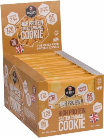 Image of Dr Zaks High Protein Cookie 12 - 60g Cookies Salted Caramel