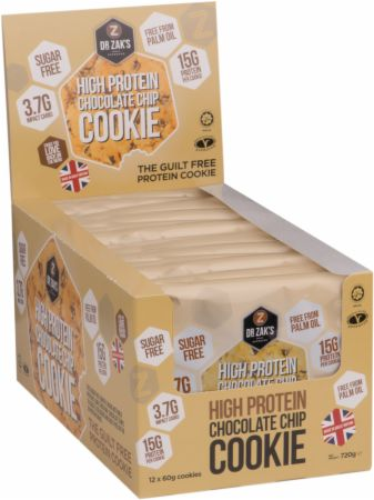 Image of Dr Zaks High Protein Cookie 12 - 60g Cookies Chocolate Chip