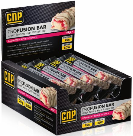 Image of CNP Professional Pro Fusion Bar 12 - 64g Bars Raspberry Ripple Crunch