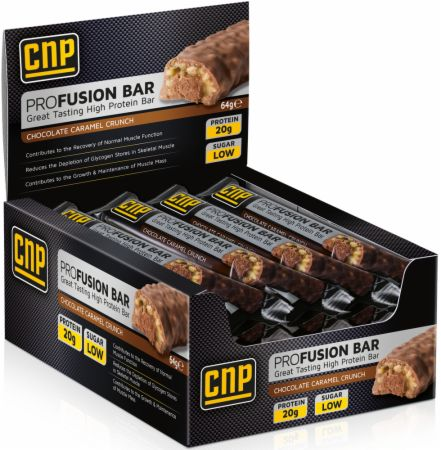 Image of CNP Professional Pro Fusion Bar 12 - 64g Bars Chocolate Caramel Crunch