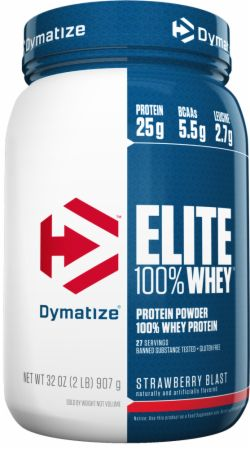 Dymatize Elite 100% Whey Protein Strawberry Blast 2 Lbs. - Protein Powder
