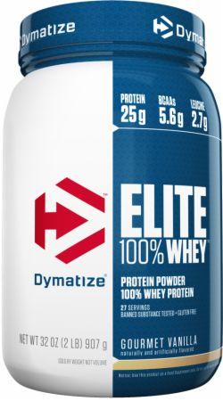 Dymatize Elite 100% Whey Protein Gourmet Vanilla 2 Lbs. - Protein Powder