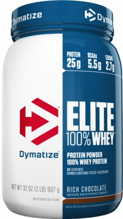 Dymatize Elite 100% Whey Protein Rich Chocolate 2 Lbs. - Protein Powder