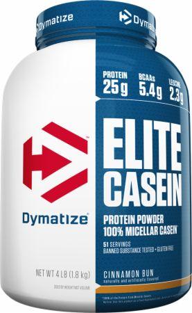 Image of Dymatize Elite Casein 4 Lbs. Cinnamon Bun