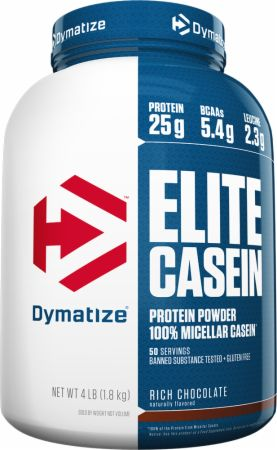 Image of Dymatize Elite Casein 4 Lbs. Rich Chocolate