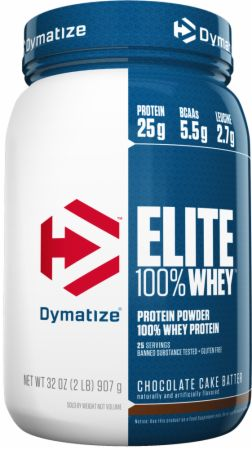 Dymatize Elite 100% Whey Protein Chocolate Cake Batter 2 Lbs. - Protein Powder