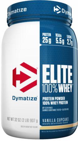 Dymatize Elite 100% Whey Protein Vanilla Cupcake 2 Lbs. - Protein Powder