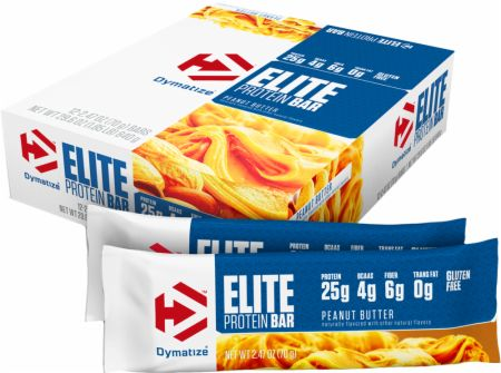 Dymatize Elite Protein Bar Peanut Butter 12 - 70g Bars - Protein Bars