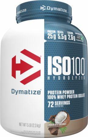 Image of ISO100® Hydrolyzed 100% Whey Protein Isolate Chocolate Coconut 5 Lbs. - Protein Powder Dymatize
