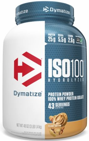 Image of ISO100® Hydrolyzed 100% Whey Protein Isolate Peanut Butter 3 Lbs. - Protein Powder Dymatize