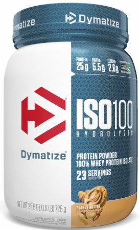 Image of ISO100® Hydrolyzed 100% Whey Protein Isolate Peanut Butter 1.6 Lbs. - Protein Powder Dymatize